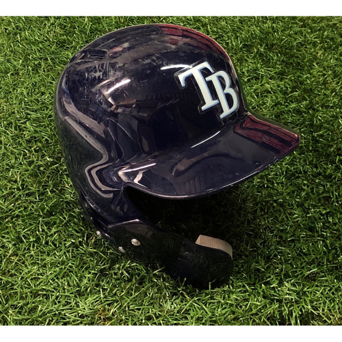 Photo of Game Used Home Run Helmet (size 7 5/8): Austin Meadows (2HR, 3RBI) - 2019: August 3 (MIA) & August 6 (TOR)