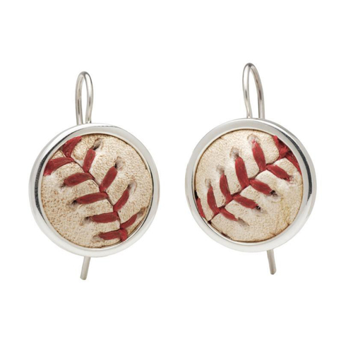 Photo of Cleveland Indians Game Used Baseball Earrings