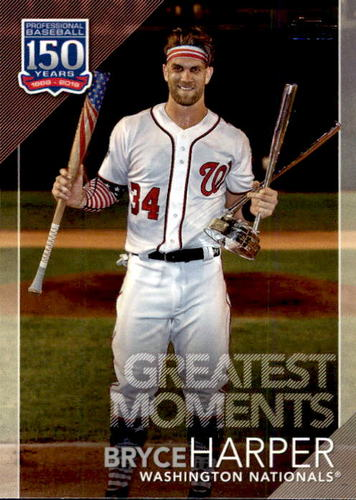 Photo of 2019 Topps 150 Years of Professional Baseball Greatest Moments #GM19 Bryce Harper