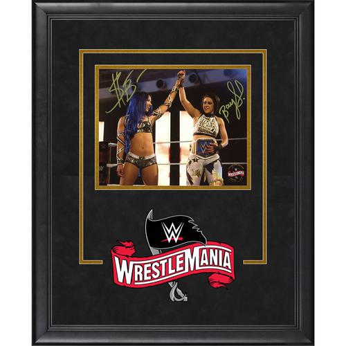 Photo of Bayley and Sasha Banks SIGNED WrestleMania 36 Champion's Edition Frame (Random Number)