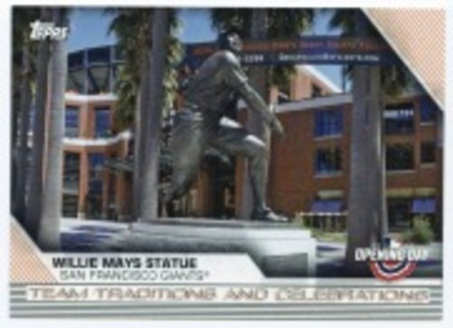 Photo of 2020 Topps Opening Day Team Traditions and Celebrations #TTC8 Willie Mays Statue