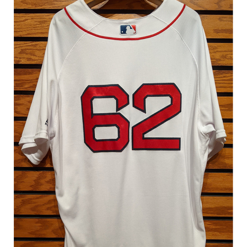Photo of #62 Team Issued Home White Jersey