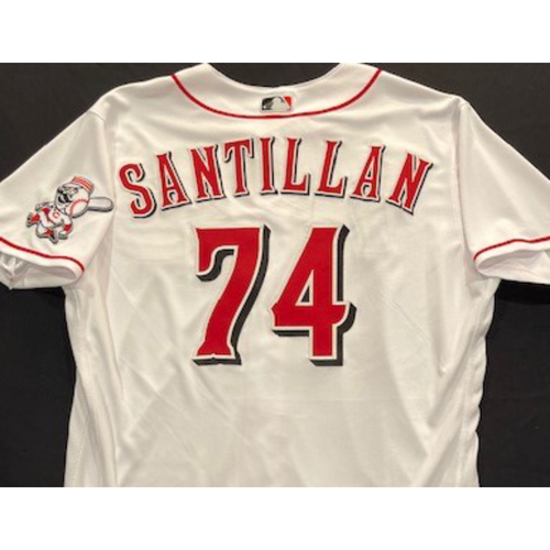Photo of Tony Santillan -- 2020 Home White Jersey -- Team Issued -- Size 48