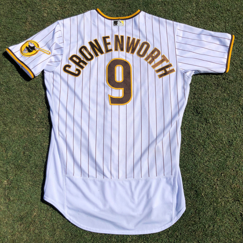 Photo of Jake Cronenworth Game-Used Jersey. 14th Home Run of Season. Worn 4 times Authenticated Jersey