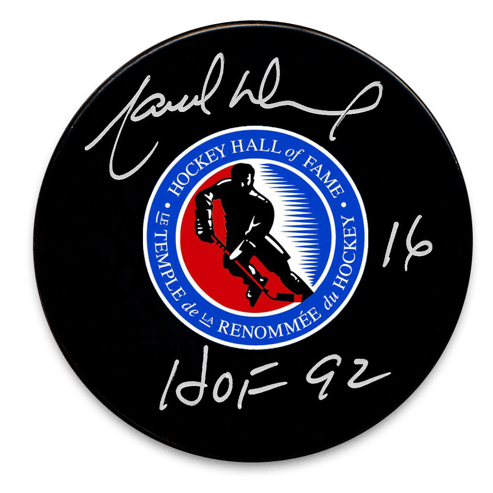 Marcel Dionne Hockey Hall of Fame HOF Autographed Puck
