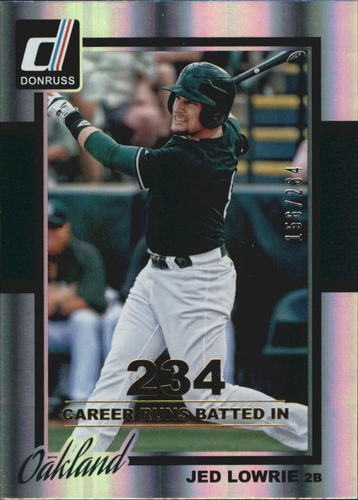 Photo of 2014 Donruss Stat Line Career #319 Jed Lowrie/234