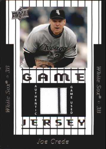 Photo of 2008 Upper Deck UD Game Materials 1997 #JC Joe Crede