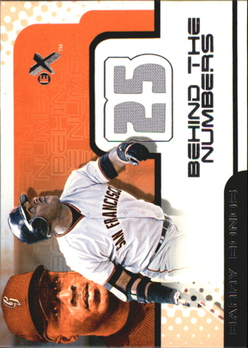 Photo of 2001 E-X Behind the Numbers Game Jersey #BH25 Barry Bonds