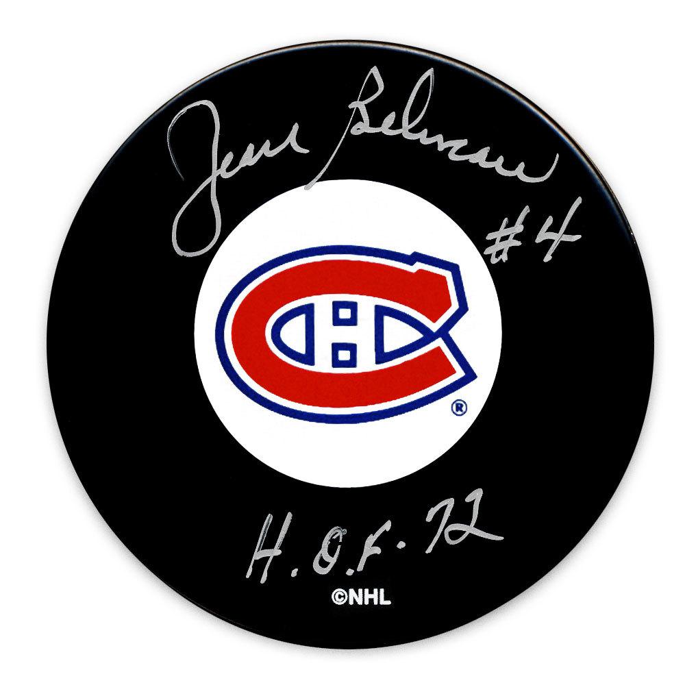 Jean Beliveau Montreal Canadiens Autographed Puck