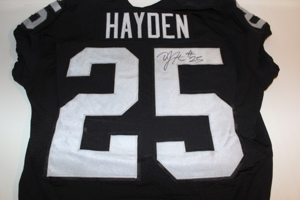 NFL Auction | BCA - RAIDERS D. J. HAYDEN GAME WORN AND SIGNED ...