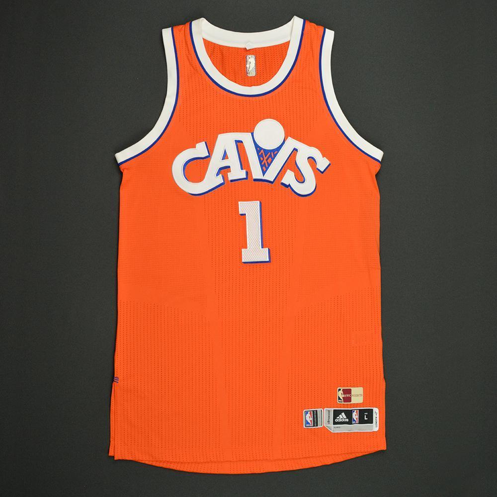 James Jones - Cleveland Cavaliers - Game-Worn Orange '1986-87 Road ...