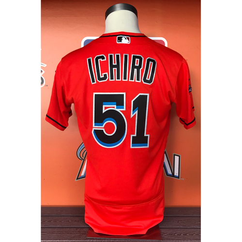 Game-Used Jersey: Ichiro Suzuki vs Cubs 6/25/17 (Passes Rickey Henderson to be the oldest player to start at center field) Size 42