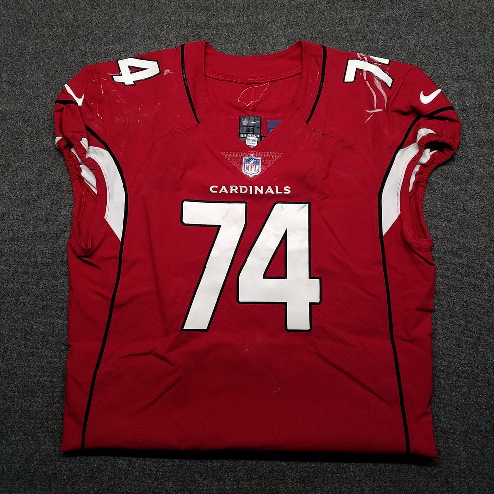 London Games - Cardinals D.J. Humphries game worn Cardinals jersey (October 22, 2017)