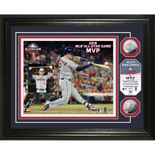 "Photo of Alex Bregman 2018 MLB All-Star Game ""MVP"" Silver Coin Photo Mint"