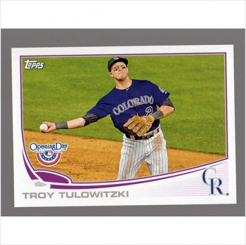 Photo of 2013 Topps Opening Day #219 Troy Tulowitzki