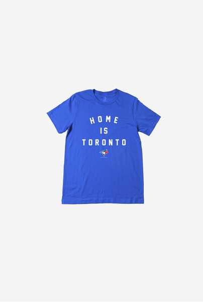 Toronto Blue Jays Youth Home Is Toronto Royal T-Shirt by Peace Collective
