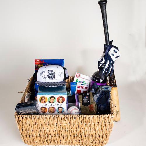 "Photo of Padres Rookies ""Favorite Things"" Basket"