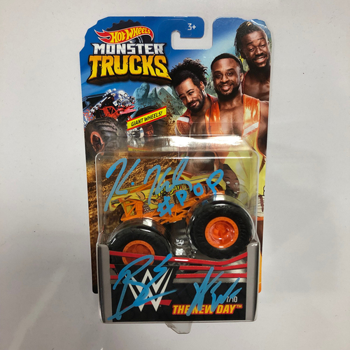 The New Day SIGNED Hot Wheels Monster Truck