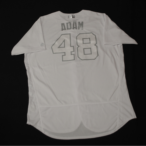 "Photo of Jason ""ADAM"" Adam Toronto Blue Jays Game-Used 2019 Players' Weekend Jersey"