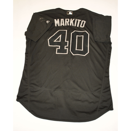 "Photo of Marco ""Markito"" Hernandez Boston Red Sox Game-Used 2019 Players' Weekend Jersey"