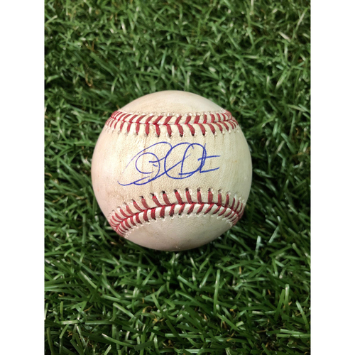 20th Anniversary Autographed Game Used Baseball: Charlie Morton strikes out Daniel Robertson - July 1, 2018 v HOU
