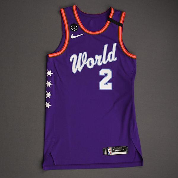 Image of Shai Gilgeous-Alexander - 2020 NBA Rising Stars - Team World - Game-Worn 1st Half Jersey