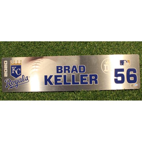 Photo of Game-Used Locker Tag: Brad Keller #56 (DET @ KC 9/24/20)