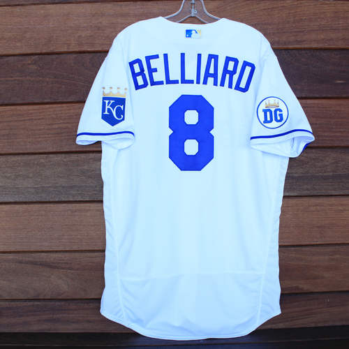 Photo of Game-Used 2020 Los Reales Jersey: Rafael Belliard #8 (PIT @ KC 9/12/20) - Size 44