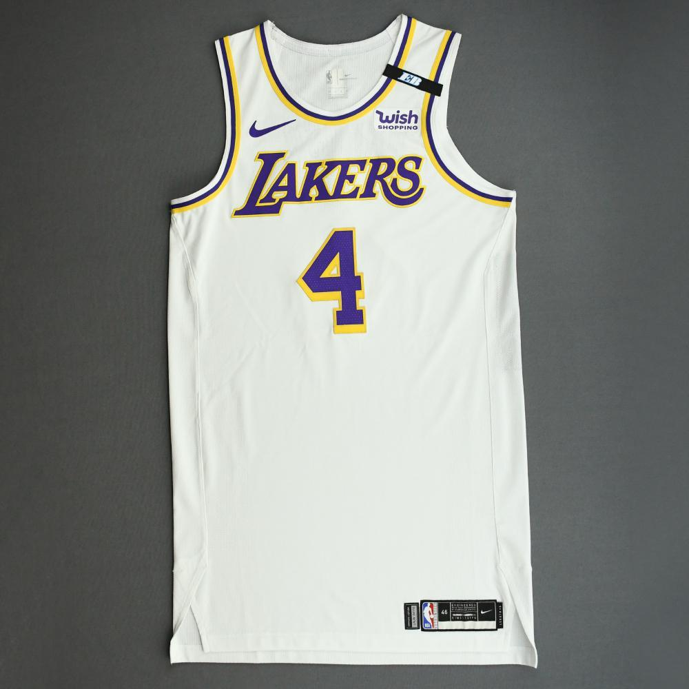Alex Caruso - Los Angeles Lakers - Game-Worn Association Edition ...