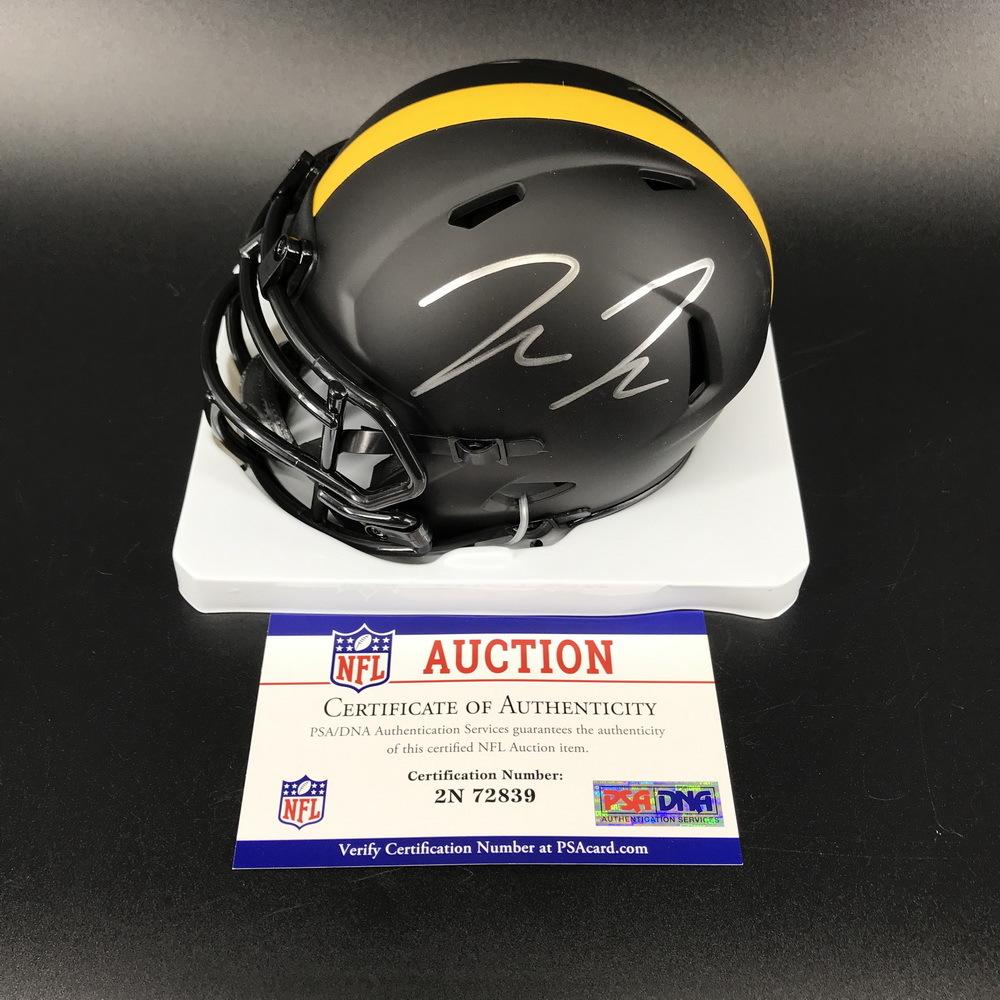 NFL - Steelers Pat Freiermuth Signed Eclipse Mini Helmet