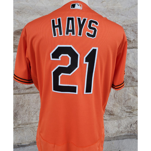 Photo of Austin Hays: Jersey - Game Used (2 HR - 9/11/21 vs. Blue Jays (Game 1))