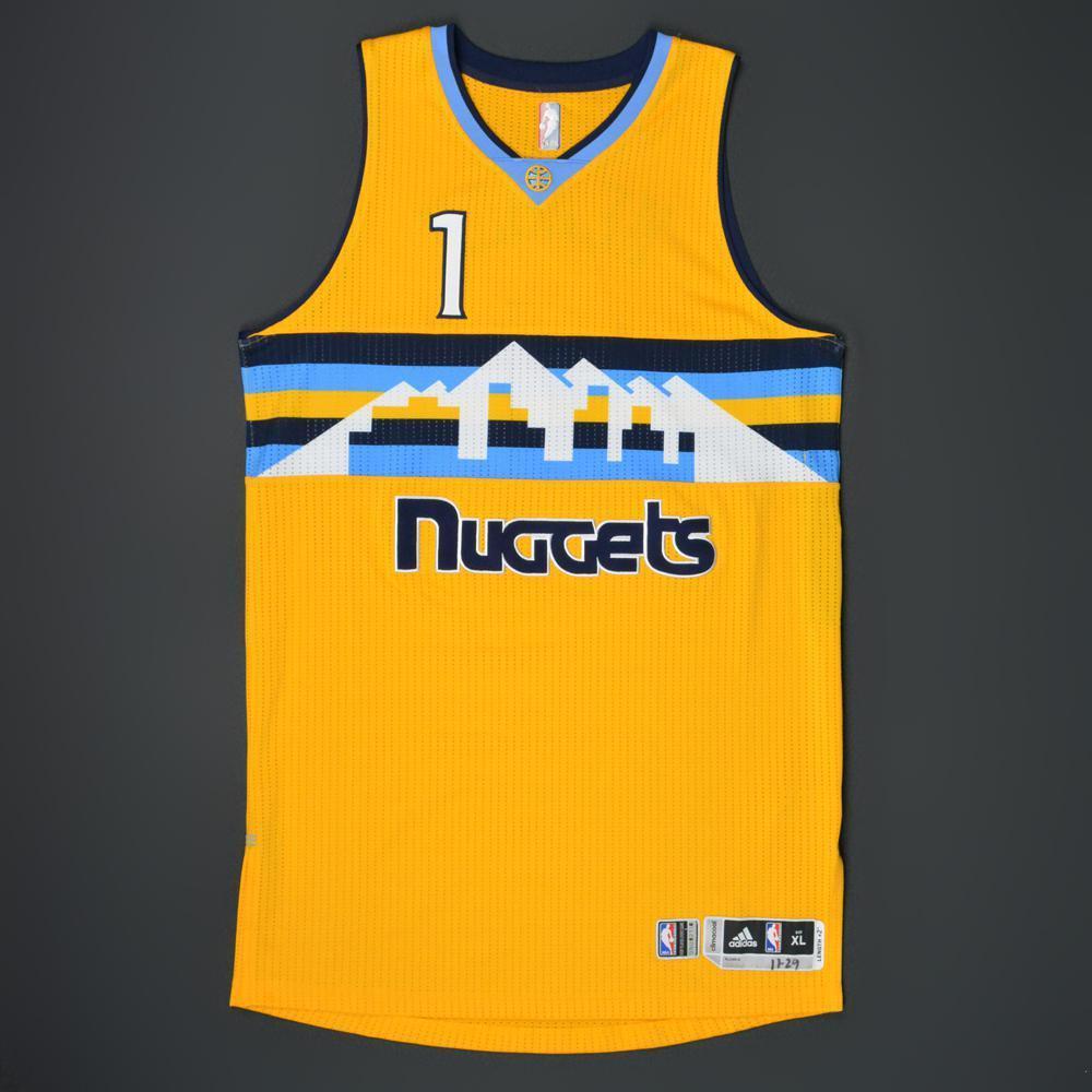 699eb2e954b ... sweden jameer nelson denver nuggets game worn alternate jersey 2015 16  season 15009 4804d