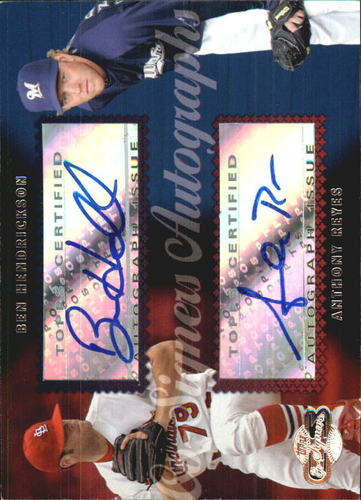 Photo of 2006 Topps Co-Signers Dual Autographs #CS50 Ben Hendrickson/Anthony Reyes Q