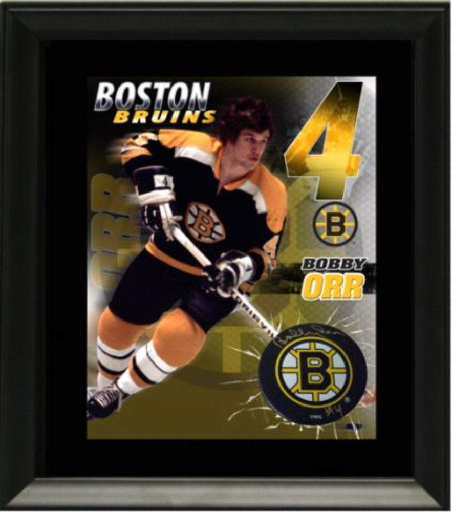 Bobby Orr - Signed & Framed Puck with Print - Boston Bruins