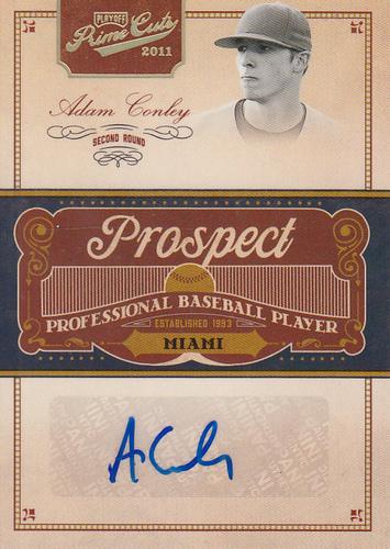 Photo of 2011 Prime Cuts Prospect Signatures Gold #AC Adam Conley/49