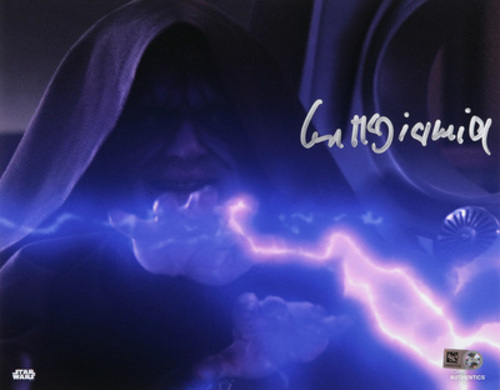 Ian McDiarmid as Darth Sidious 8x10 Autographed In Silver Ink Photo