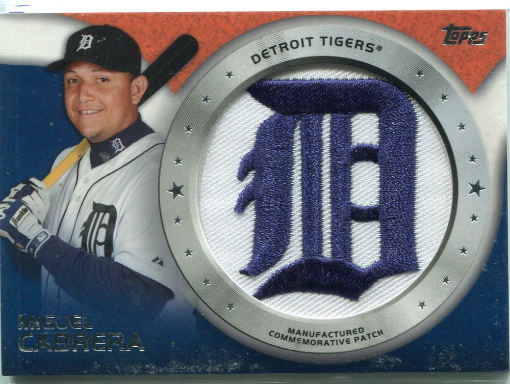 2014 Topps Manufactured Commemorative Team Logo Patch #CP4 Miguel Cabrera