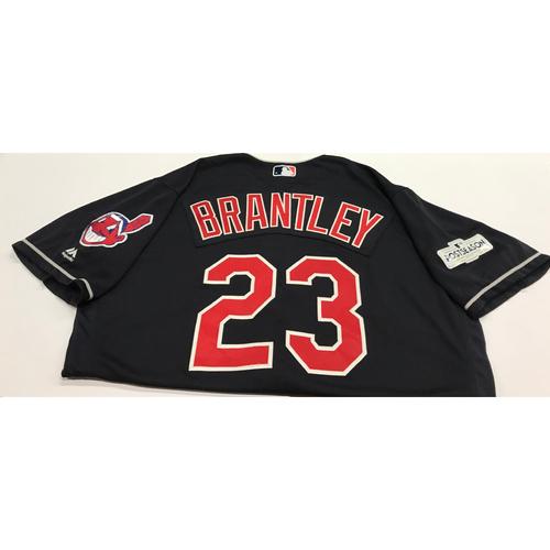 Photo of Michael Brantley Team-Issued 2017 Alternate Postseason Jersey