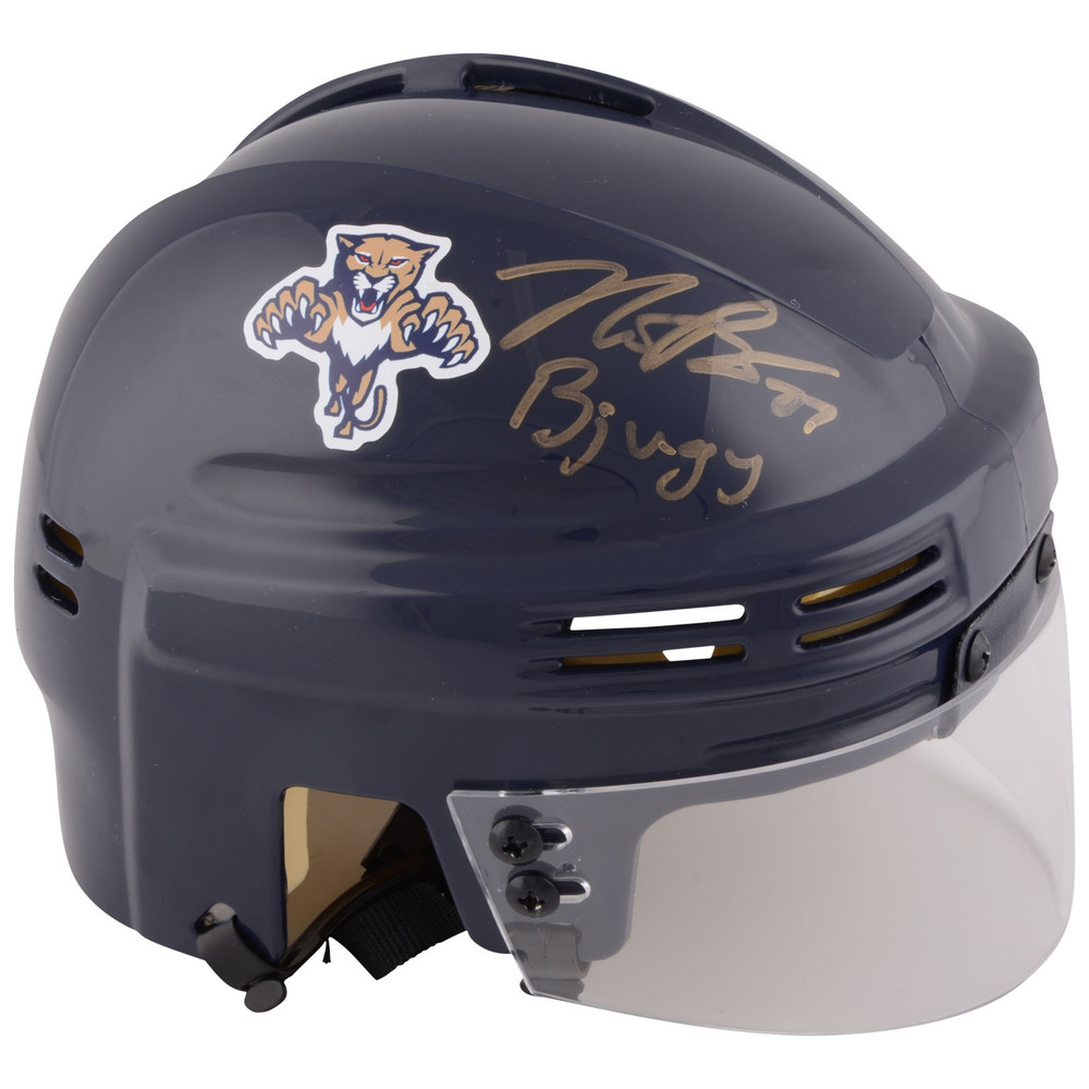 Nick Bjugstad Florida Panthers Autographed Navy Mini Helmet with Bjugy Inscription