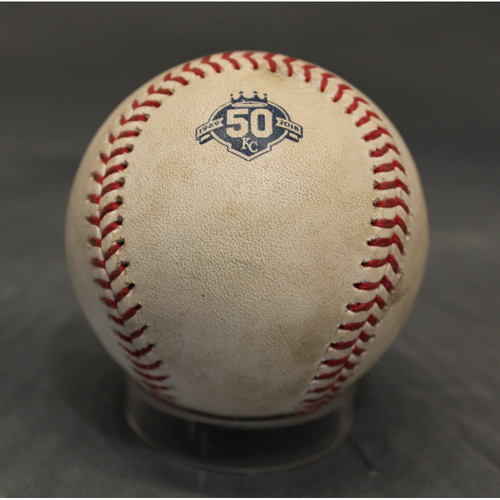 Photo of Game-Used Baseball: Shohei Ohtani Foul (LAA at KC - 4/12/18)