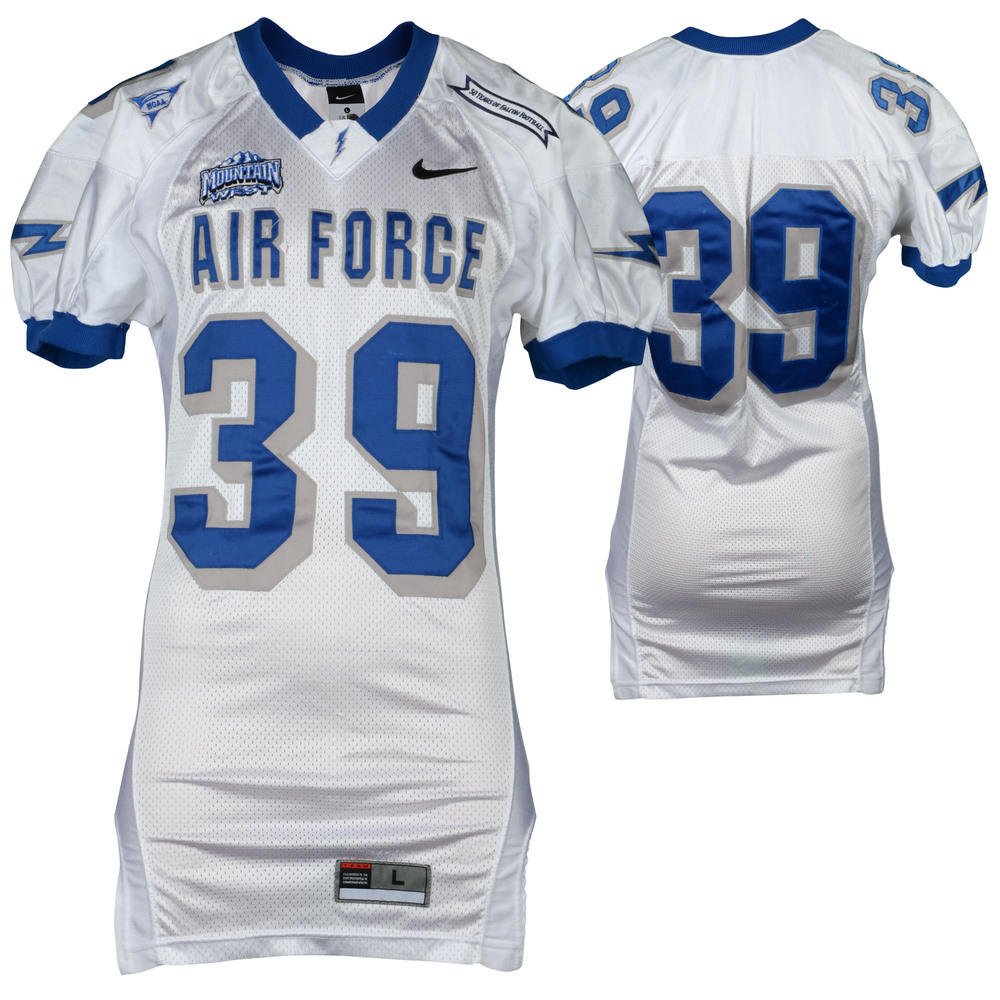 Air Force Falcons Game-Used #39 White Football Jersey from the 2002-06 Seasons - Size - L