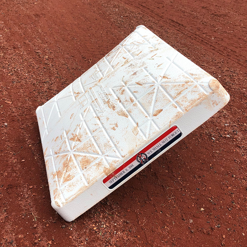Photo of Game Used Base - 9/11 Remembrance Jewel - 3rd Base, Innings 7-9 - Mets vs. Marlins - 9/11/18