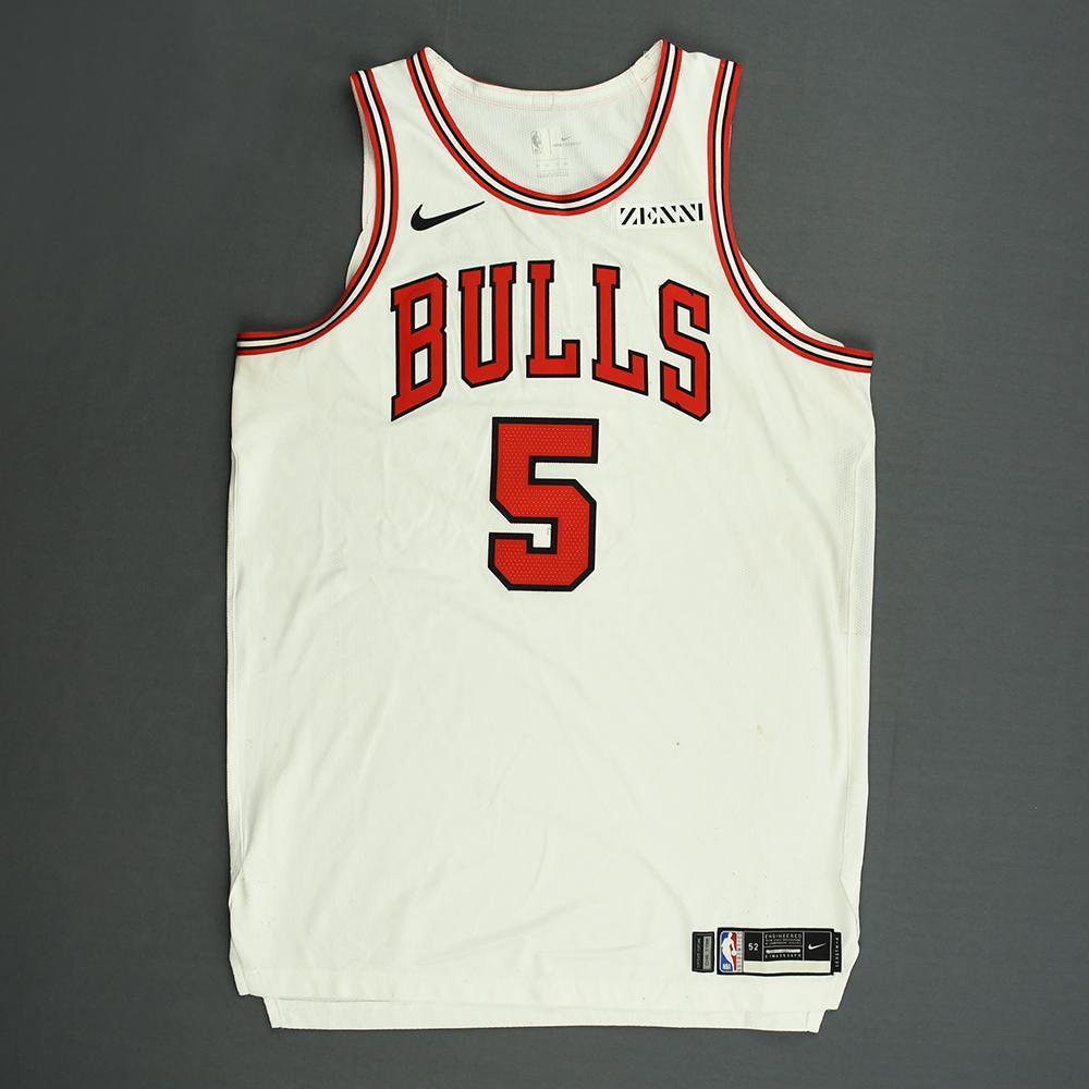 Bobby Portis - Chicago Bulls - Kia NBA Tip-Off 2018 - Game-Worn Association Edition Jersey - Double-Double