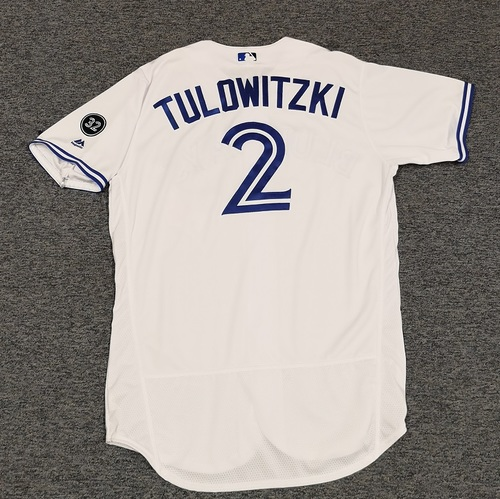 Photo of Authenticated Team Issued Jersey - #2 Troy Tulowitzki (2018 Season). Size 48.