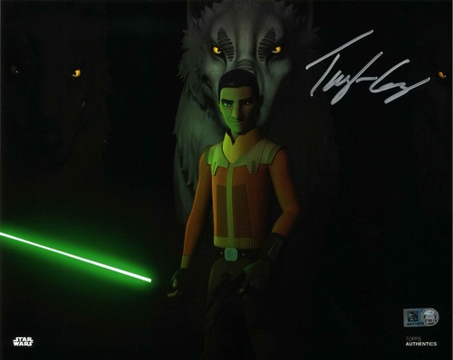 Taylor Gray As Ezra Bridger 8X10 Autographed in Silver Ink Photo
