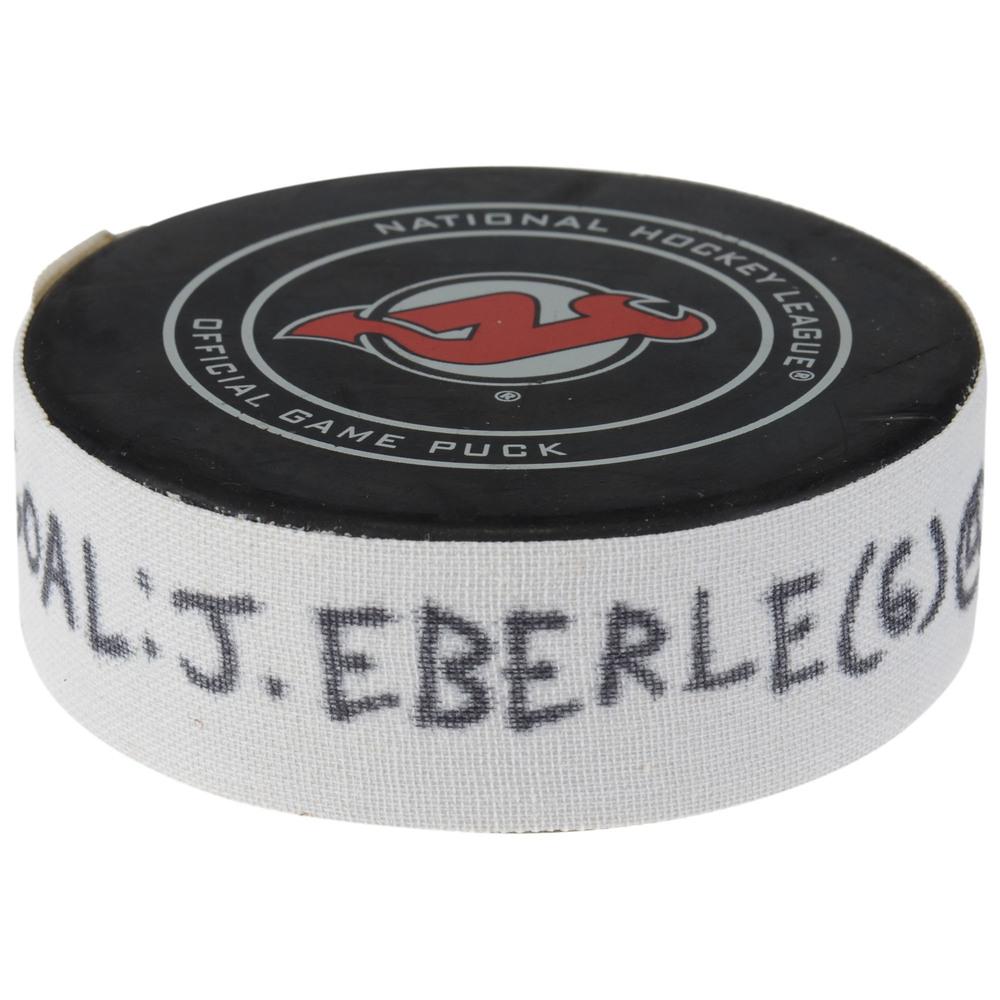 Jordan Eberle New York Islanders Game-Used Goal Puck from November 23, 2018 @ New Jersey Devils