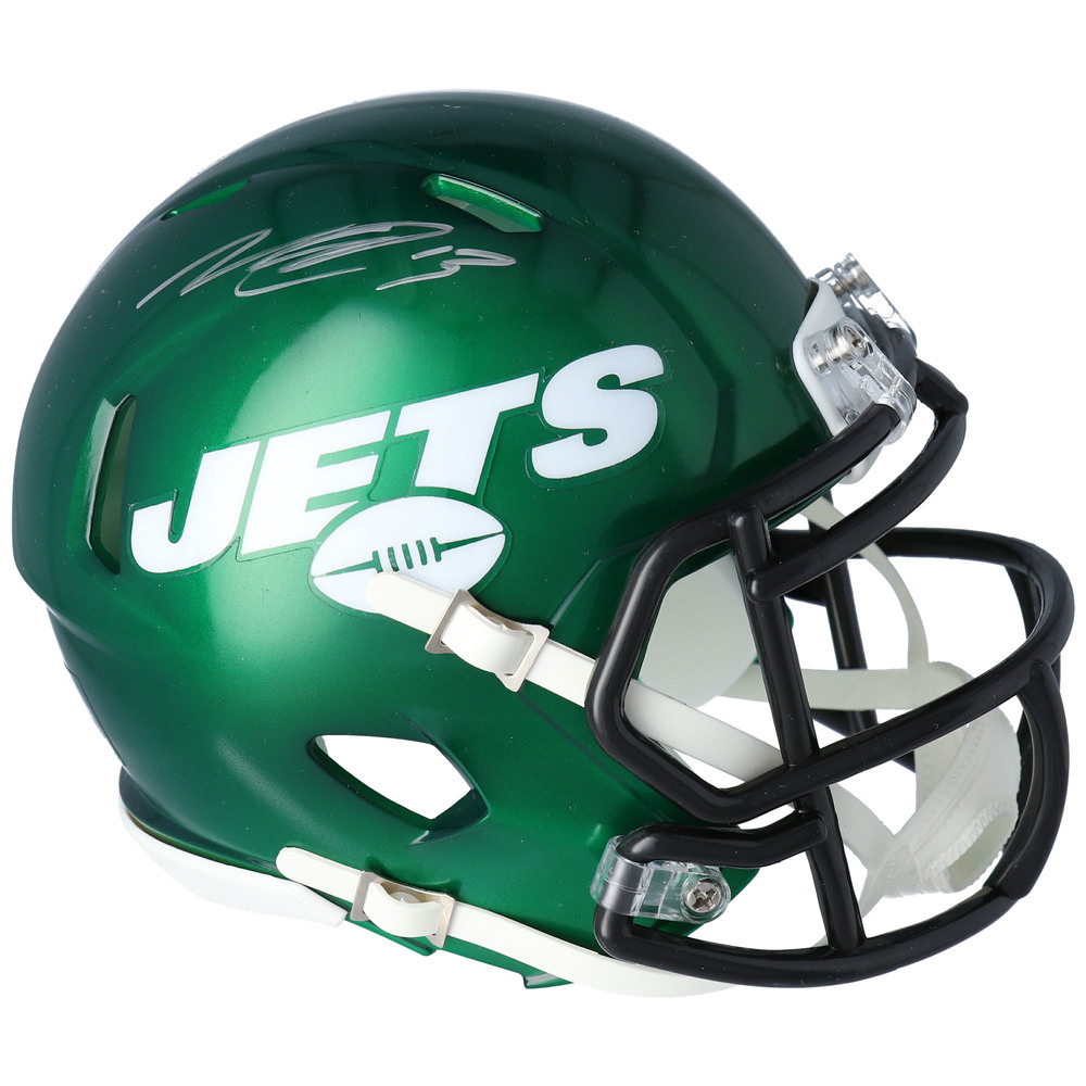 Nico Hischier New Jersey Devils Autographed New York Jets Mini Helmet - NHL Auctions Exclusive