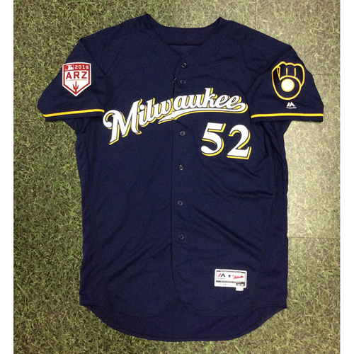 Jimmy Nelson 2019 Team-Issued Spring Training Jersey