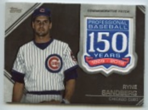 Photo of 2019 Topps Update 150th Anniversary Manufactured Patches #AMPRS Ryne Sandberg