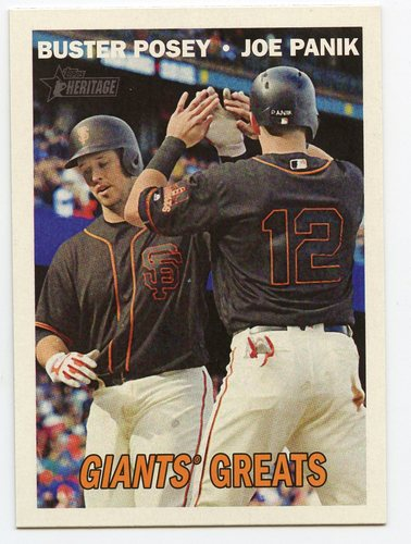Photo of 2016 Topps Heritage Combo Cards #CC2 Joe Panik/Buster Posey